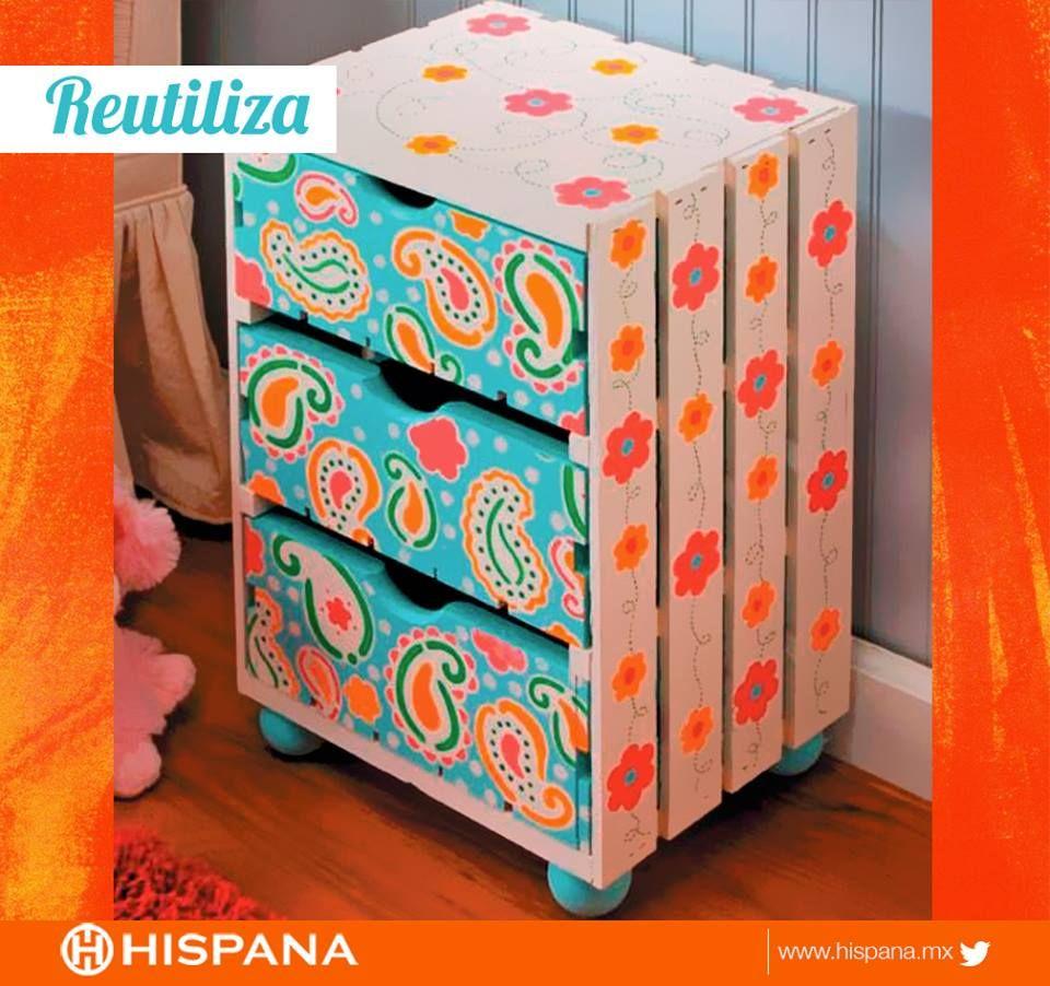 Una original y linda forma de #reutilizar, aprovecha todo lo que tienes en casa.  ¡Sácale provecho!