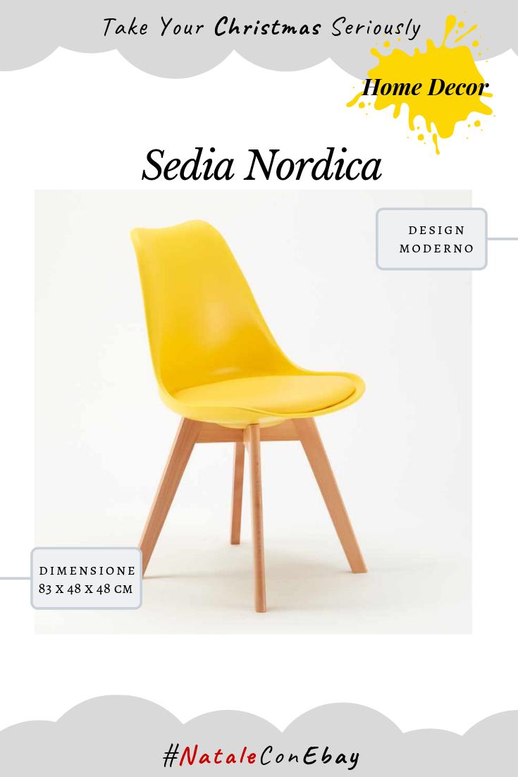 Dettagli su Sedie con Cuscino Scandinavo NORDICA TULIP per Bar e ...