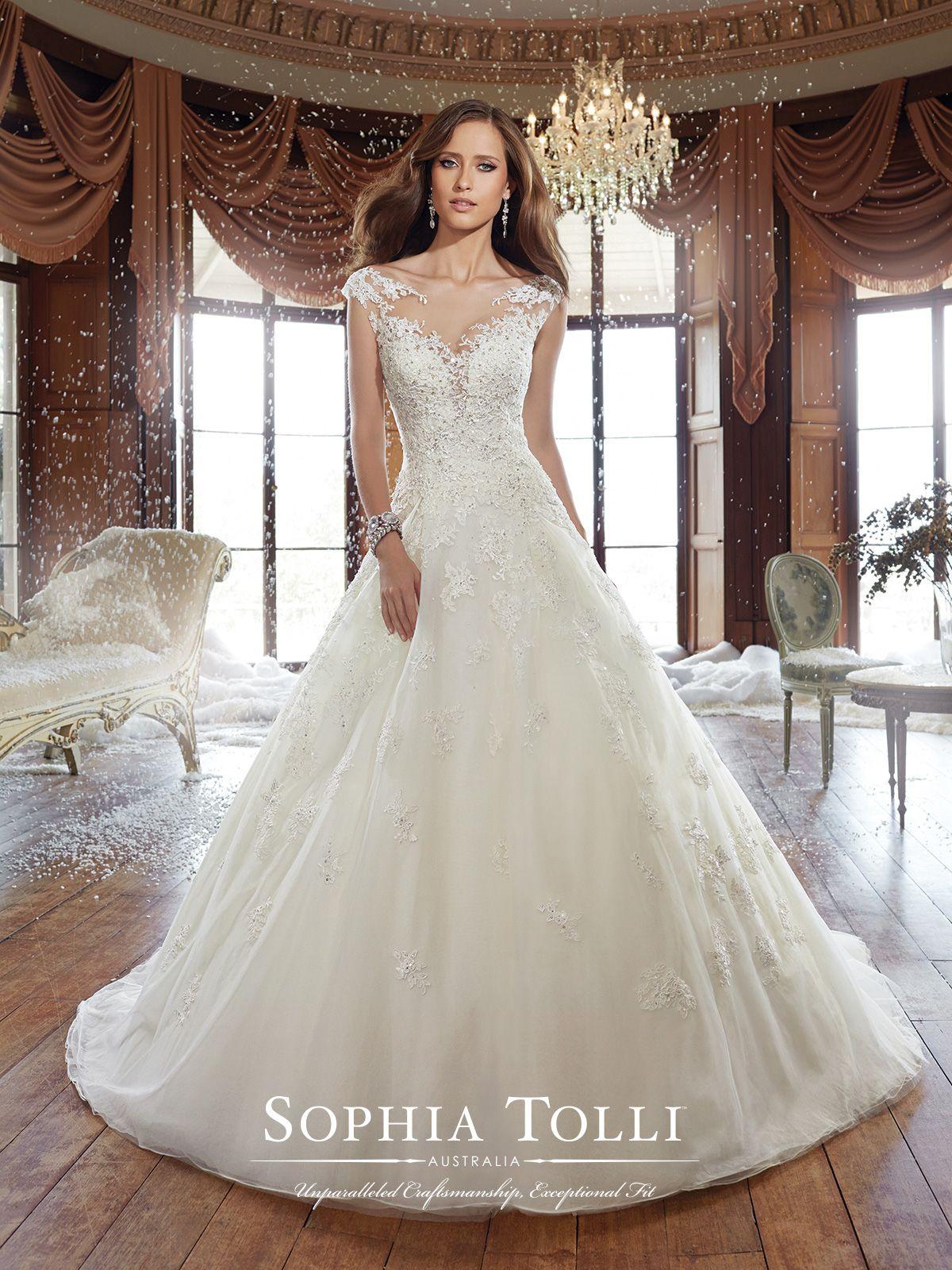 Y21509 - Sam - Sophia Tolli   Vestidos de novia suaves, Diamantes ...