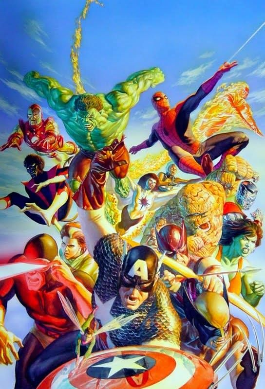Secret Wars by Alex Ross. via: https://www.facebook.com/marveloucos
