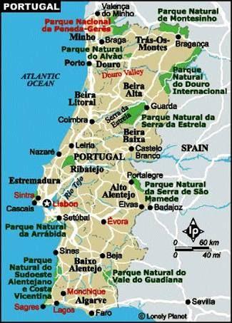 Resultado De Imagem Para Mapa Das Cidades Litoraneas De Portugal