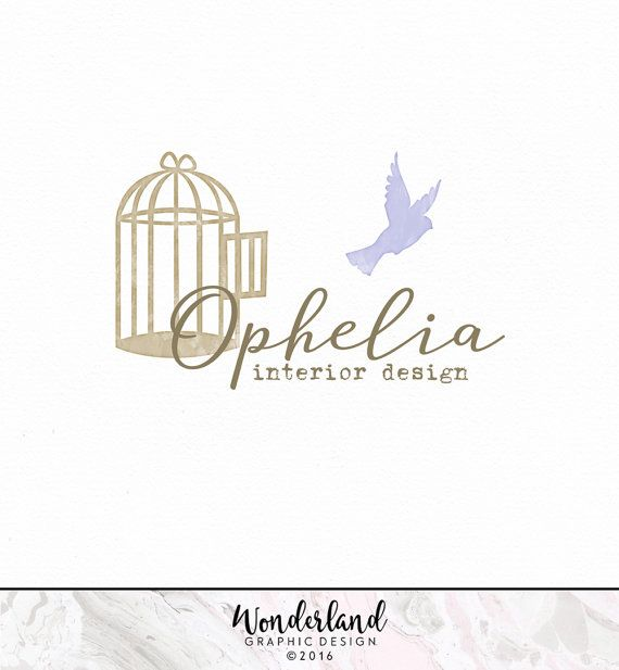 Pre Made Logo Bird Birdcage Craft Shabby Chic