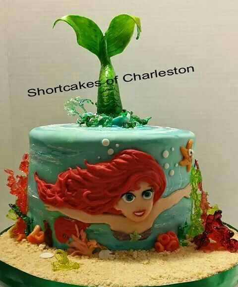 Ariel mermaid tail cake Little Mermaid Party Pinterest Ariel
