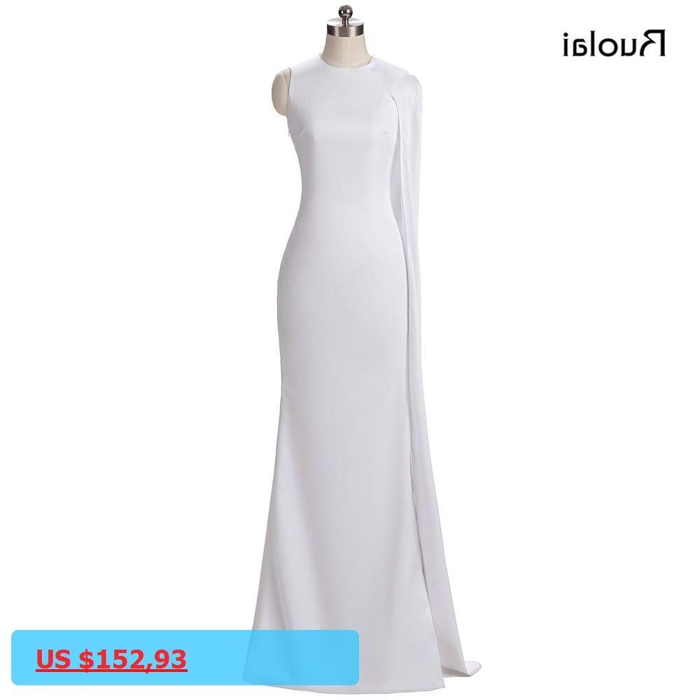 Real photo white prom dresses long satin mermaid evening