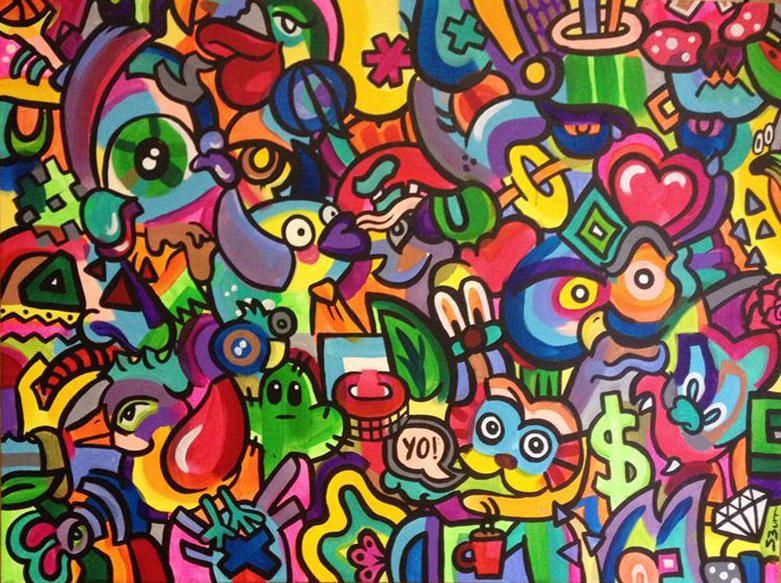 Steph Burr Paintings Painting Colorful Graffiti