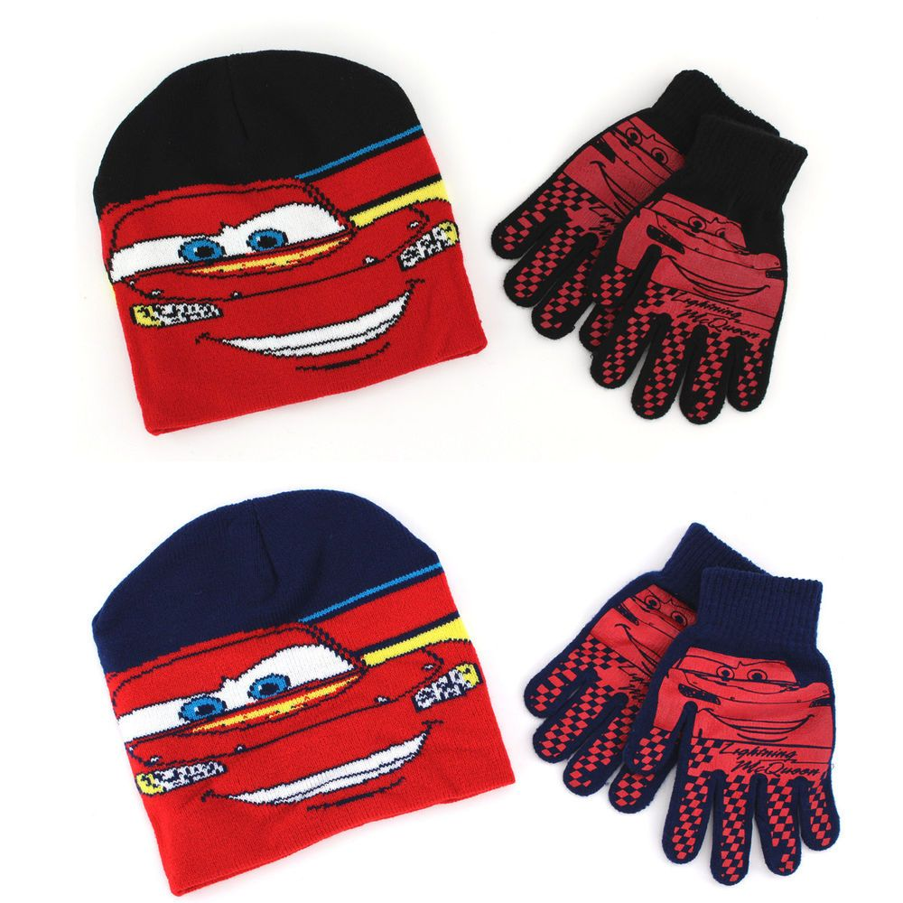 Disney Cars Boys Cars Hat and Gloves Set