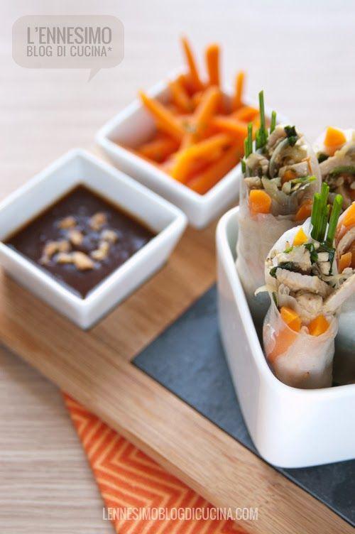 Involtini vietnamiti di carta di riso con maiale e verdure | Carta ...