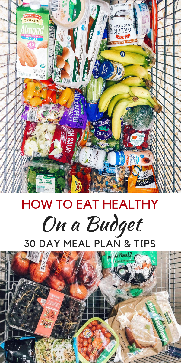 Eating Healthy on a Budget {January Edition Looking to learn how to eat healthy on a budget? healthy Lifestyle Blogger Momma Fit lyndsey is sharing her monthly meal plan to help you keep your grocery budget in line