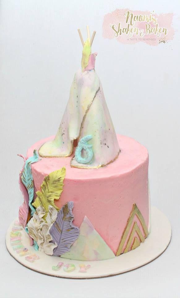 Tepee cake birthdays birthday babyshower birthdaycakes