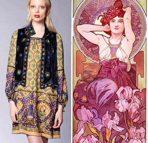 5 Resort Collections That Were Inspired By Art Art Nouveau Fashion Fashion American Fashion Designers