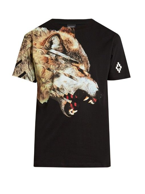 db8eb048fde6 Marcelo Burlon Cruces wolf-print T-shirt | BK in 2019 | Cotton ...