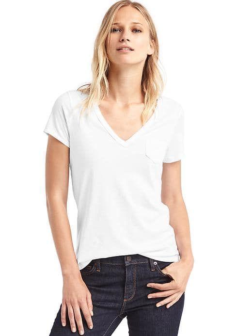 96546a25e910fb Gap - Vintage wash be neck tee   Tees   White tee shirts, T shirt ...