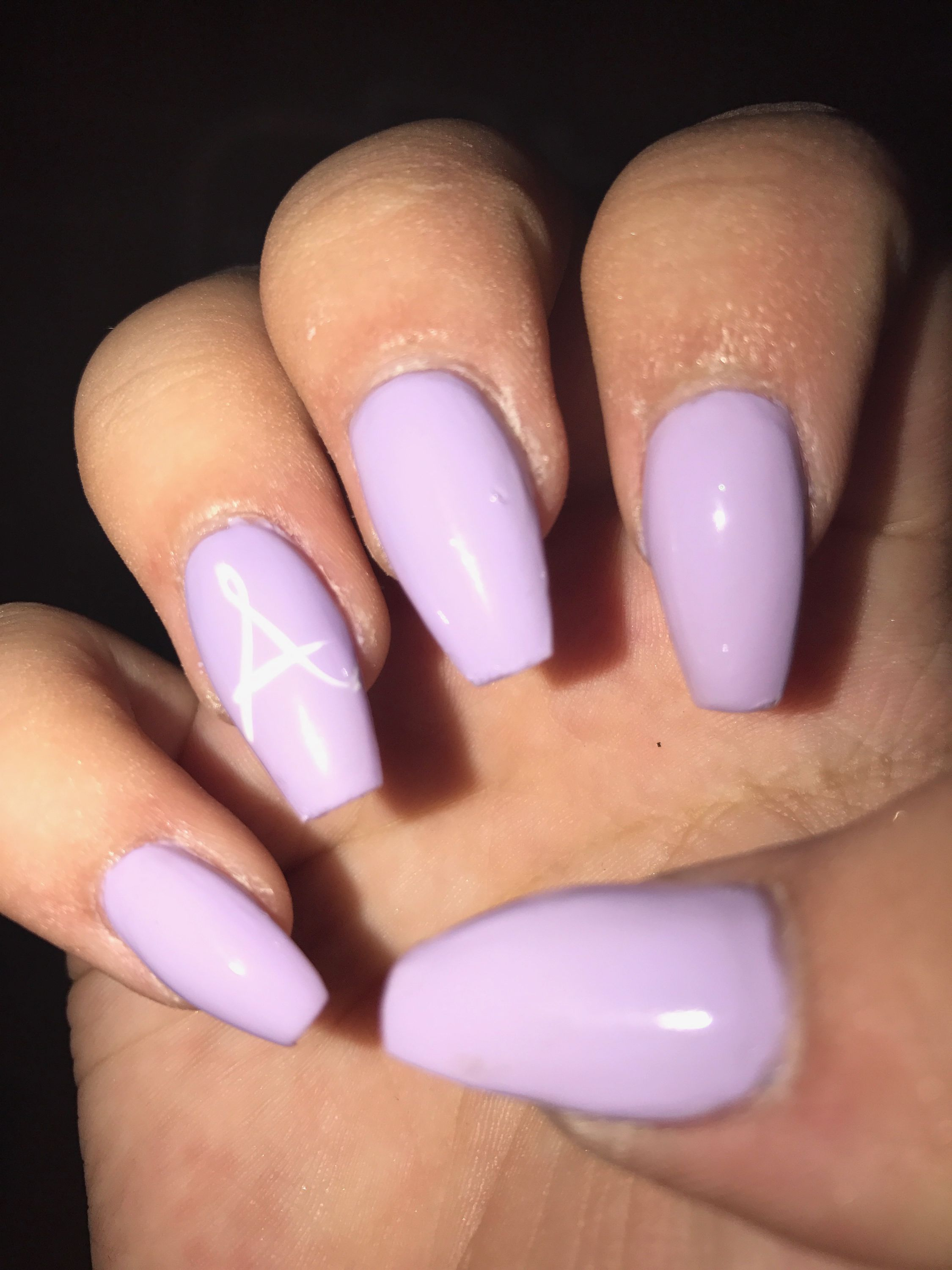 Baby got my initials on her nails and my favorite color | Nails ...
