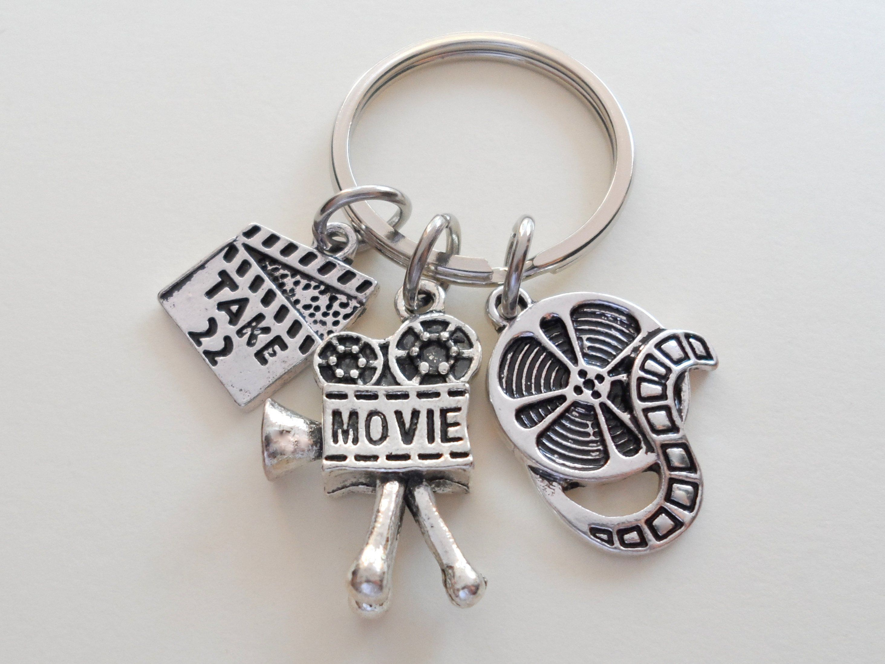 Cinema Producer Small Silver Movie Film Reel Charm Earrings on Hooks or Leverbacks Actor Theatre Director