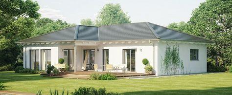 Fassade Bungalow einfamilienhaus bungalow modern haus evolution 111 v3 bien zenker