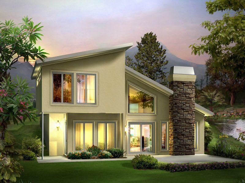 Eureka Contemporary House Plan, 2BR/1.5BA, 1105 Sq Ft.