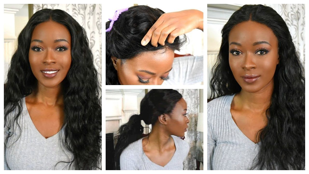 How To Sew Down A 360 Lace Frontal Wig: Natural