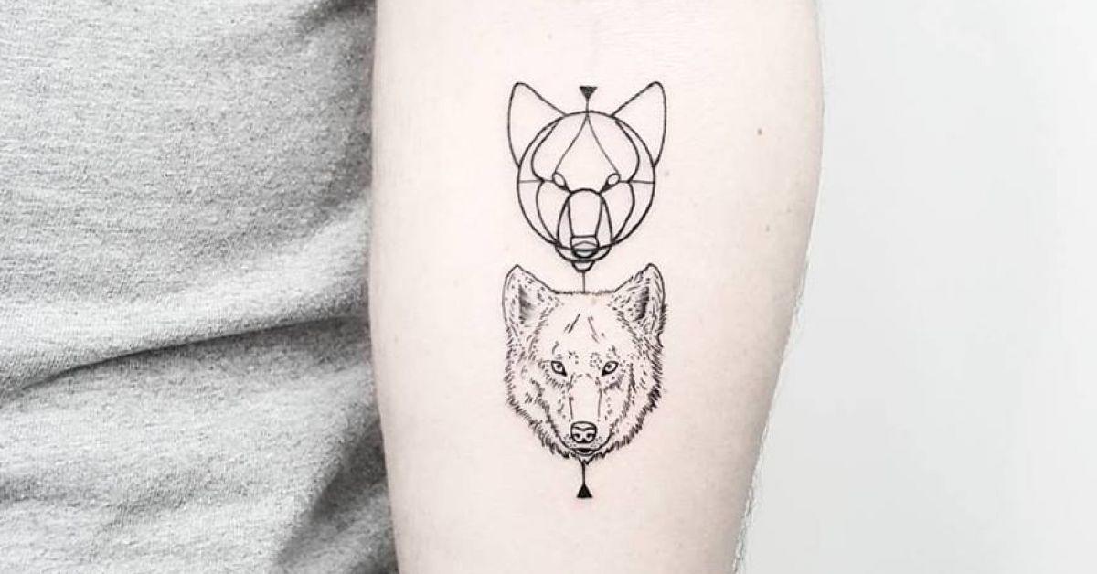 Line Art Animals Tattoo : Tattoo artist matteo nangeroni tags styles line art animals