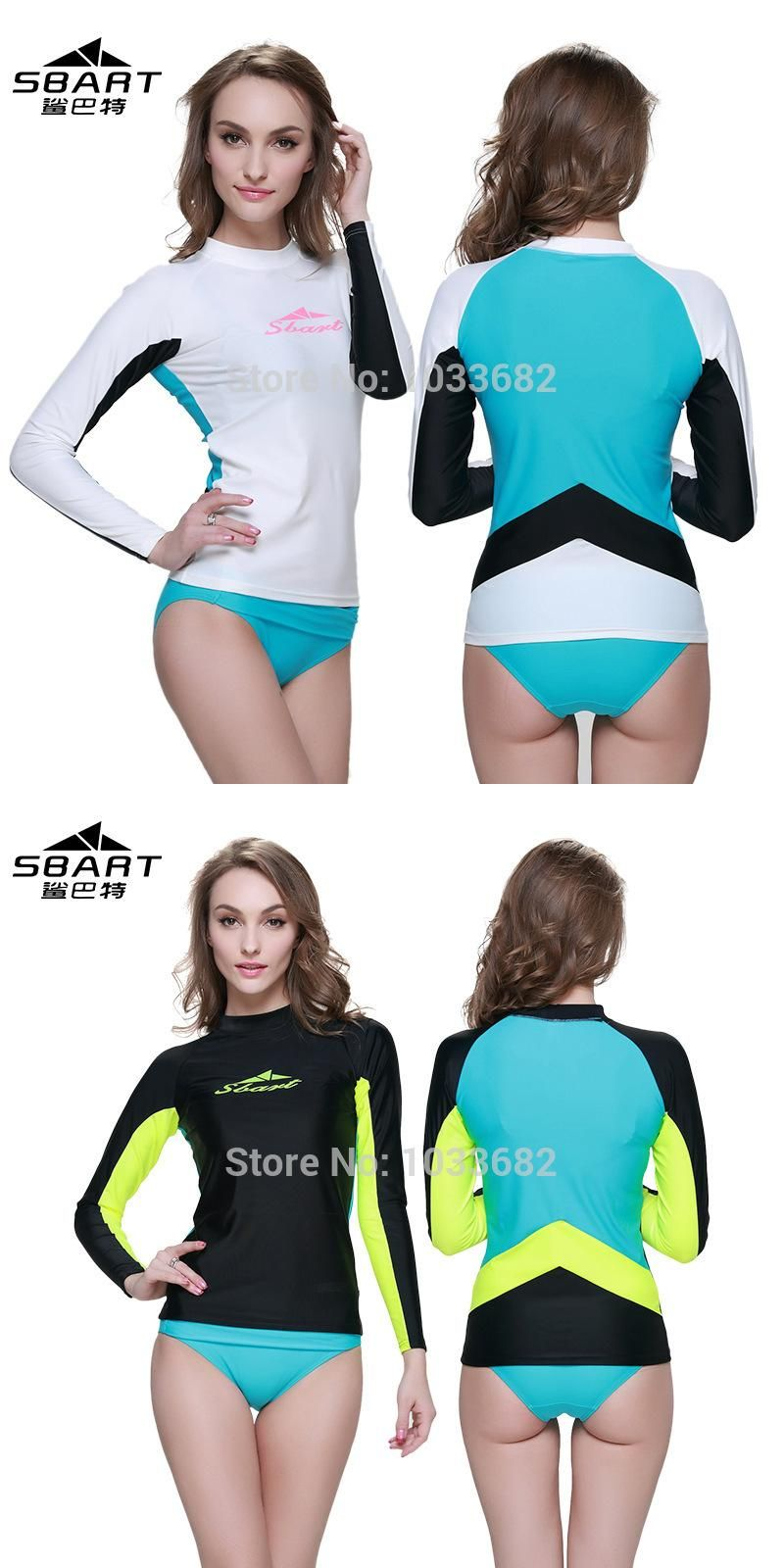 90dbc25a16b [Visit to Buy] SBART Brand Rashguard Women Swim Shirts Womens Rash Guard  Swimwear Lycra Surf Rushguard Top Quality Rush Guard Swimsuit #Advertisement