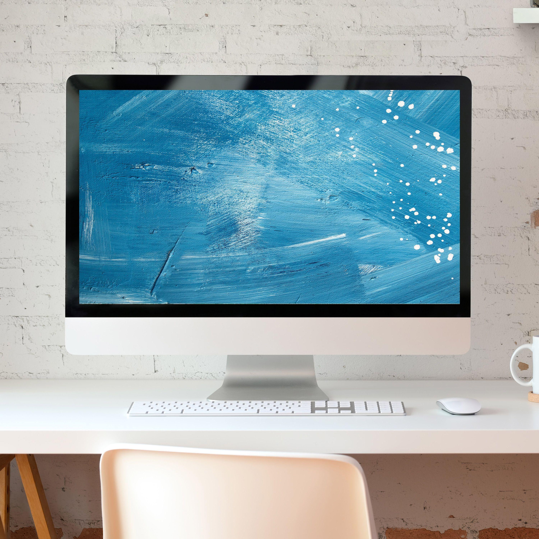 Blue Desktop Wallpaper Computer Wallpaper Of Abstract Painting Artistic Desktop Wa In 2020 Desktop Wallpaper Computer Wallpaper Desktop Wallpapers Computer Wallpaper