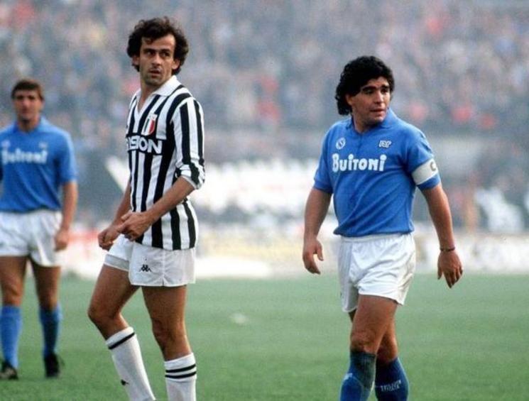 Michel Platini & Diego Armando Maradona #vintage