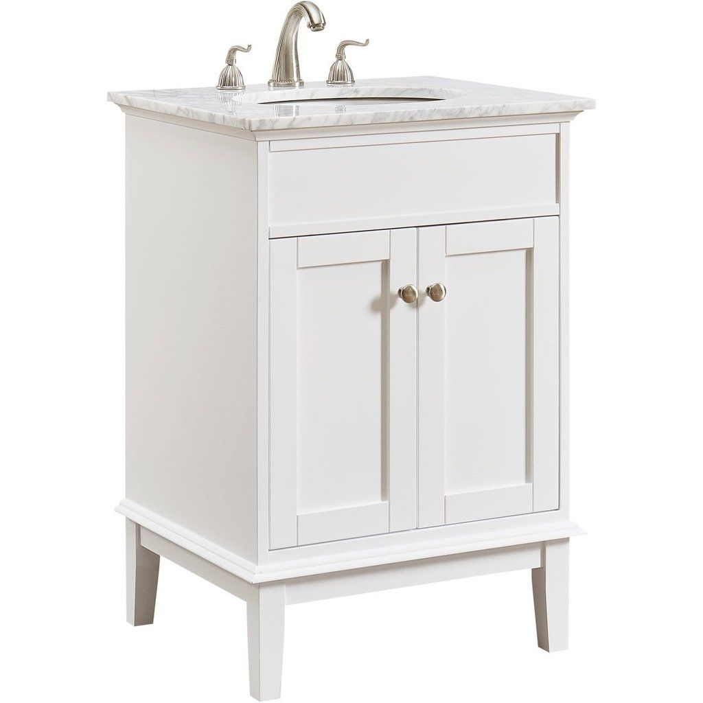 Sutton 24 X 35 2 Door Vanity Cabinet White Finish Vf30124wh Single Bathroom Vanity Vanity Set Vanity