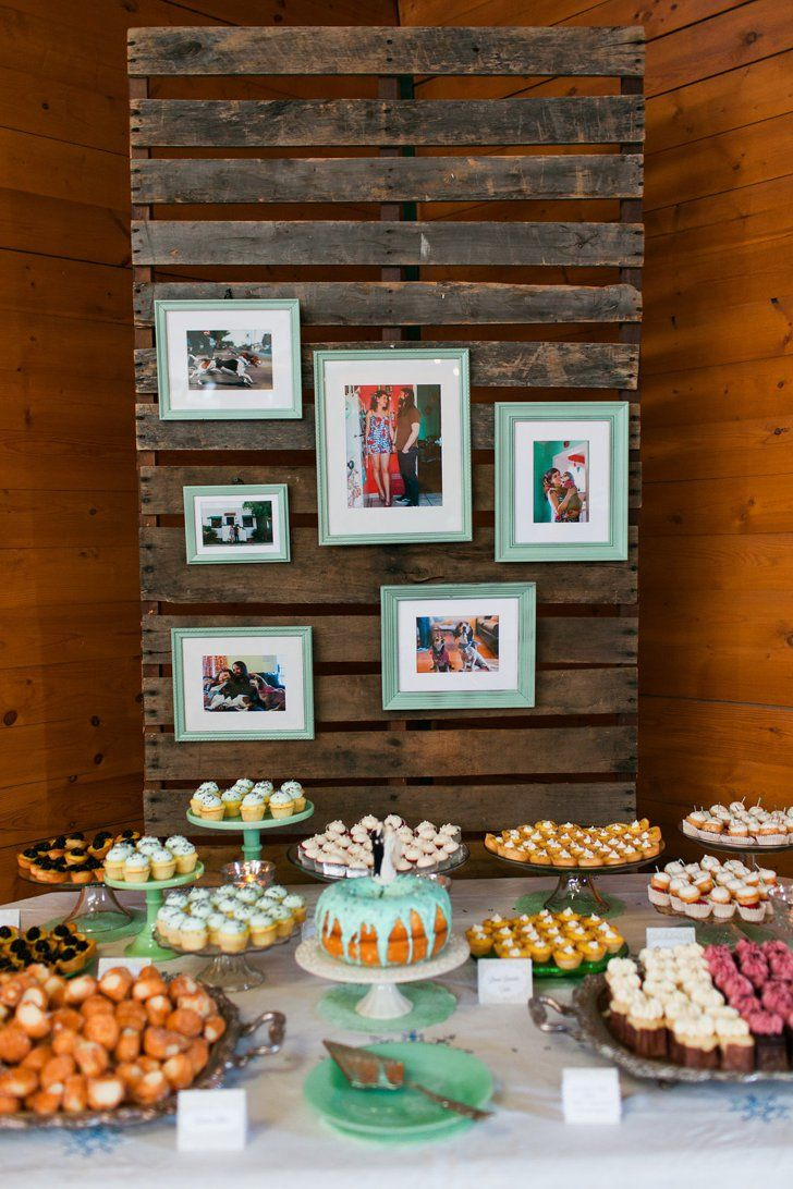 Pin for Later: 21 Inspiring Ideas For a Drop-Dead Gorgeous Backyard Wedding Rural Dessert Table