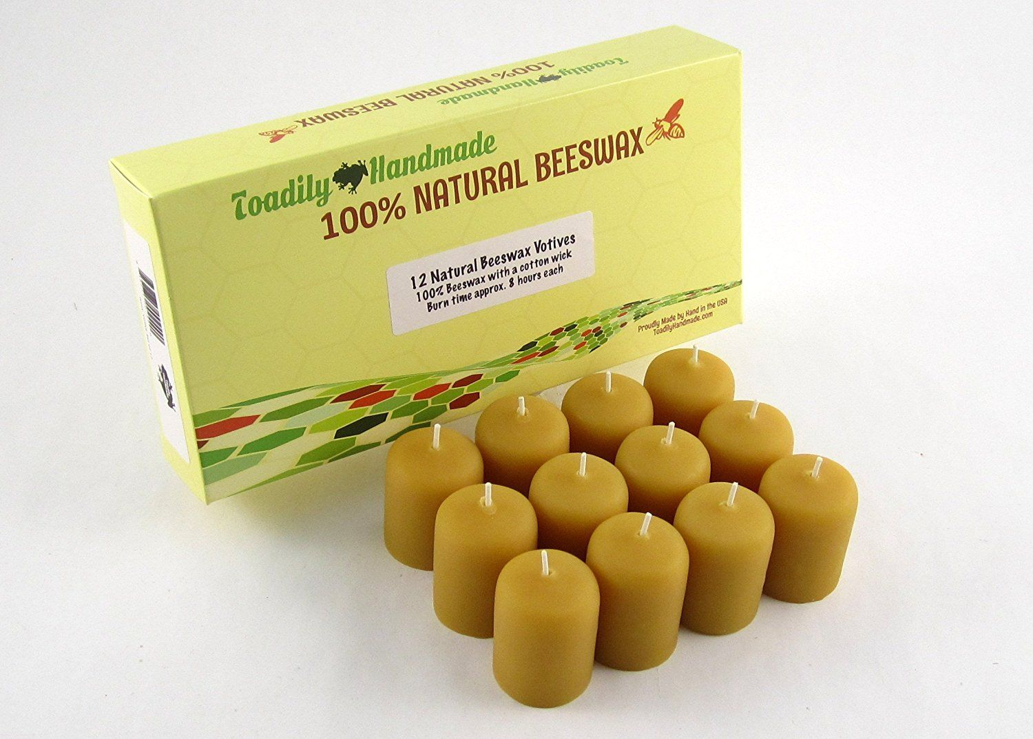 One dozen (12) Hand Poured Solid Beeswax