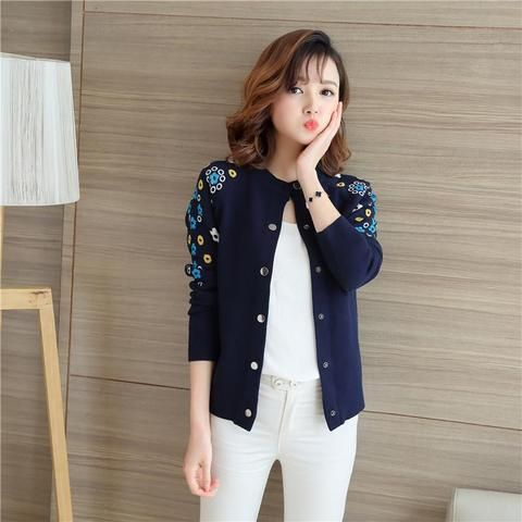 ccde36fb5ce 4395 -2018 women s new embroidered thick cardigan 43