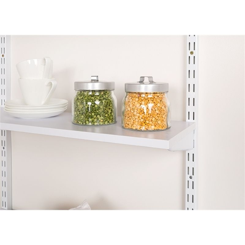 Flexi Storage 900 x 300 x 16mm White Melamine Shelf | When I