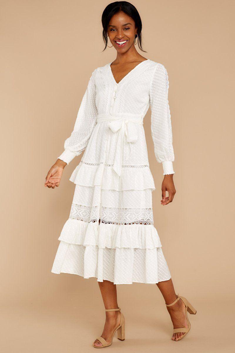 One Day Soon White Lace Midi Dress White Lace Midi Dress White Lace Maxi Dress Long Sleeve Midi Dress [ 1200 x 800 Pixel ]