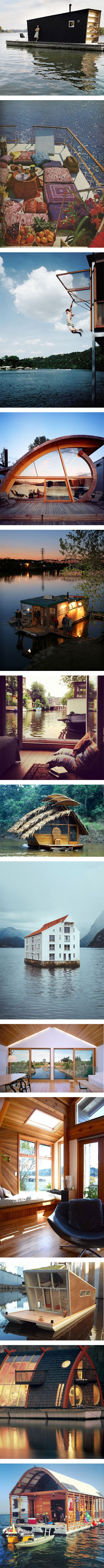 13 amazing houseboats that we want to live in on Nuji.com