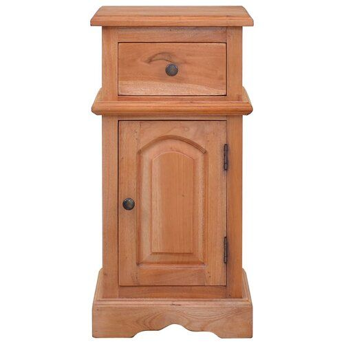Fetter 1 Drawer Bedside Table Marlow Home Co. Colour: Brown