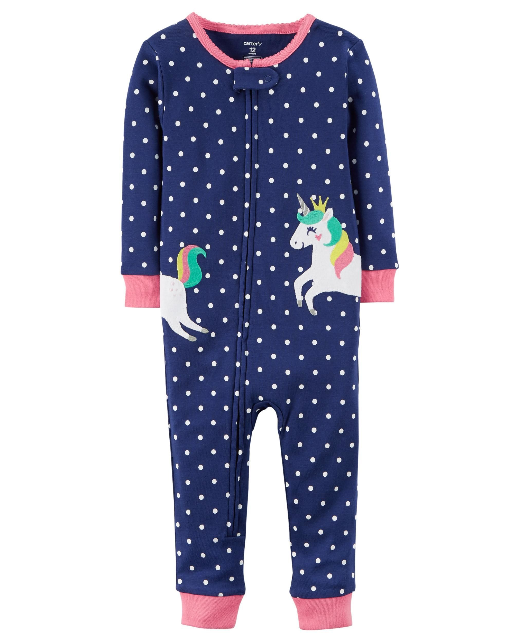 ffcea181e 1-Piece Unicorn Snug Fit Cotton Footless PJs