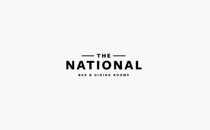 the national bar and dining rooms logo design