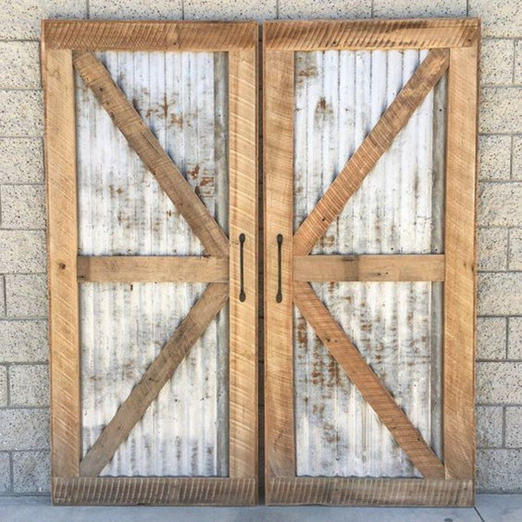 82 Corrugated Metal Barn Door Farmhouse Room Diy Barn Door Plans Door Plan Diy Barn Door