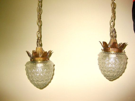 Nice Vintage Double Swag Light Fixture 70s By GoodOldDaysTreasures, $90.00