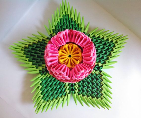 3d Origami Small Lotus Flower 3d Origami By Artsyhandscreations