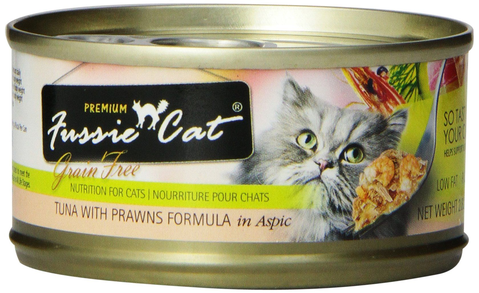 Fussie Cat Premium Tuna with Prawns Cat Food 24 2.82oz