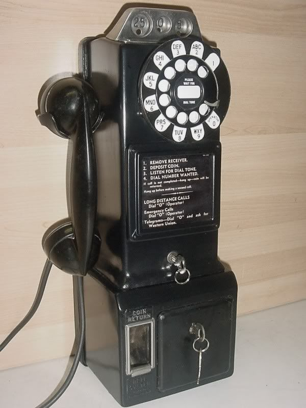1950s Pay Phones for Sale   ... Western Electric 191G, 1950s, 3-Slot Payphone With An External Ringer