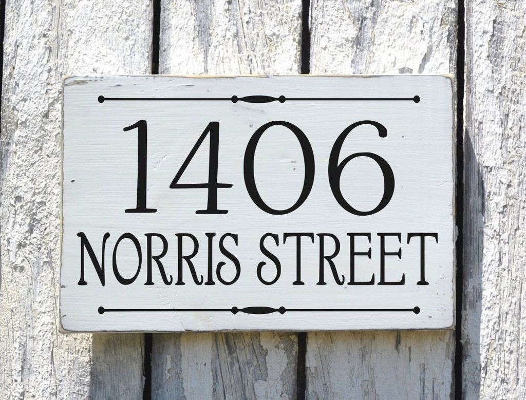 address plaque custom house numbers sign personalized rustic
