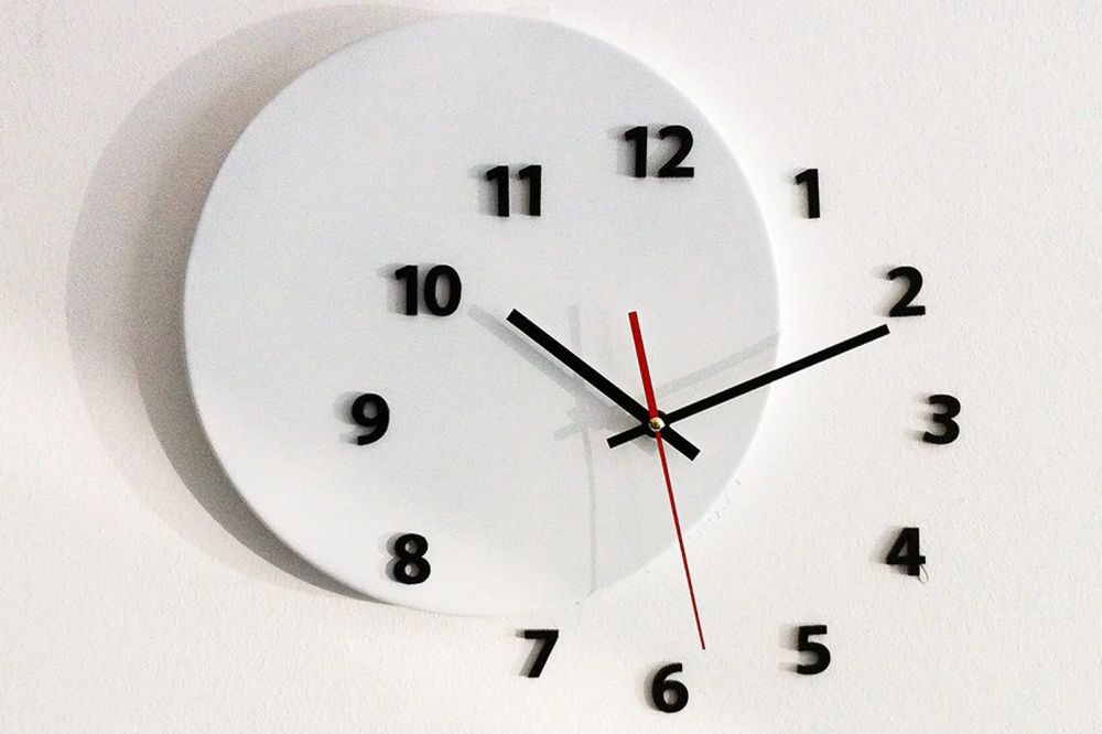 Wall Clock Out Of Time Moved Some Numbers Of Hours On The Wall Designboom Shop In 2020 Wall Clock Clock Wall Watch