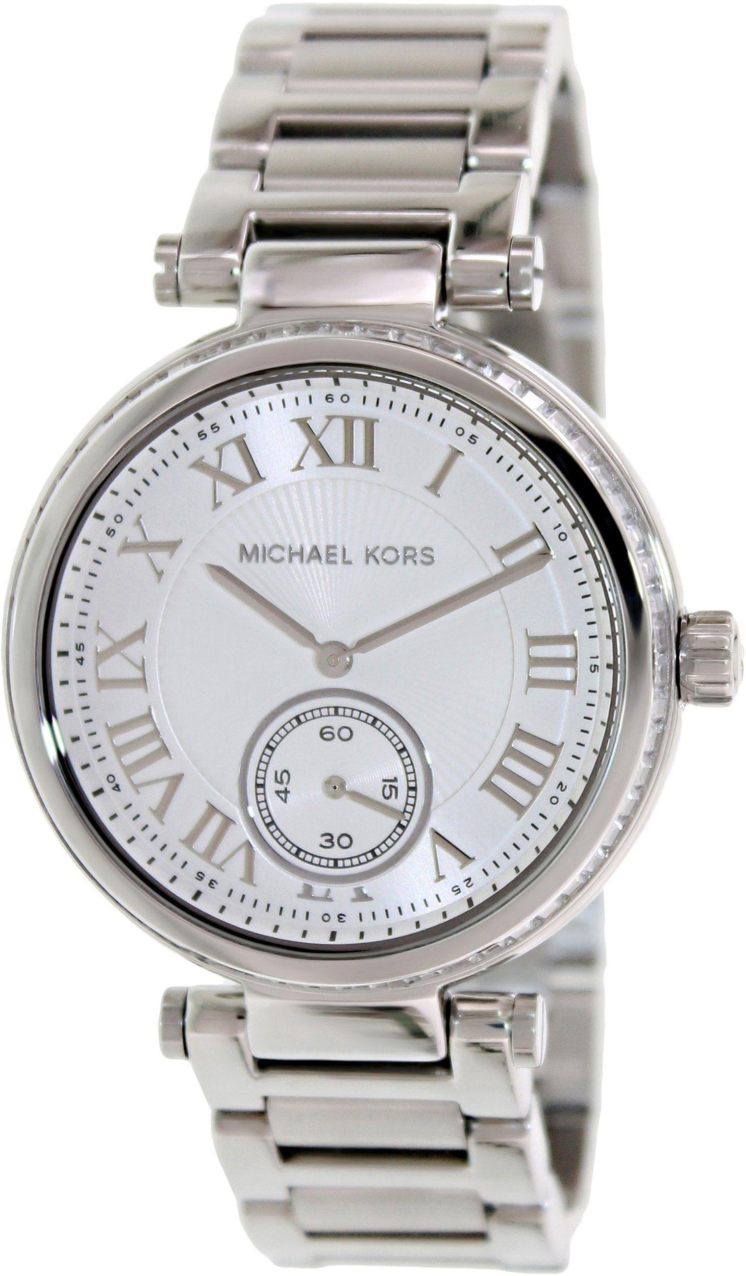 be74e066fc00 Michael Kors Skylar Silver Dial Stainless Steel Ladies Watch MK5866 ...