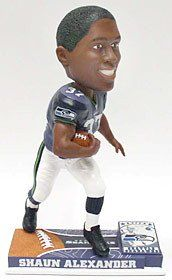 12c2878e628 Seattle Seahawks Shaun Alexander Forever Collectibles On Field Bobblehead