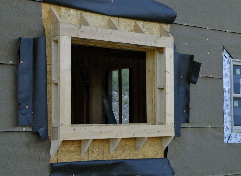 Window Bump Out Framing House Windows Bay Windows