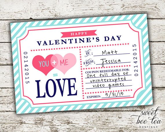 blank love coupons - custom - valentine's day gift for husband, Ideas