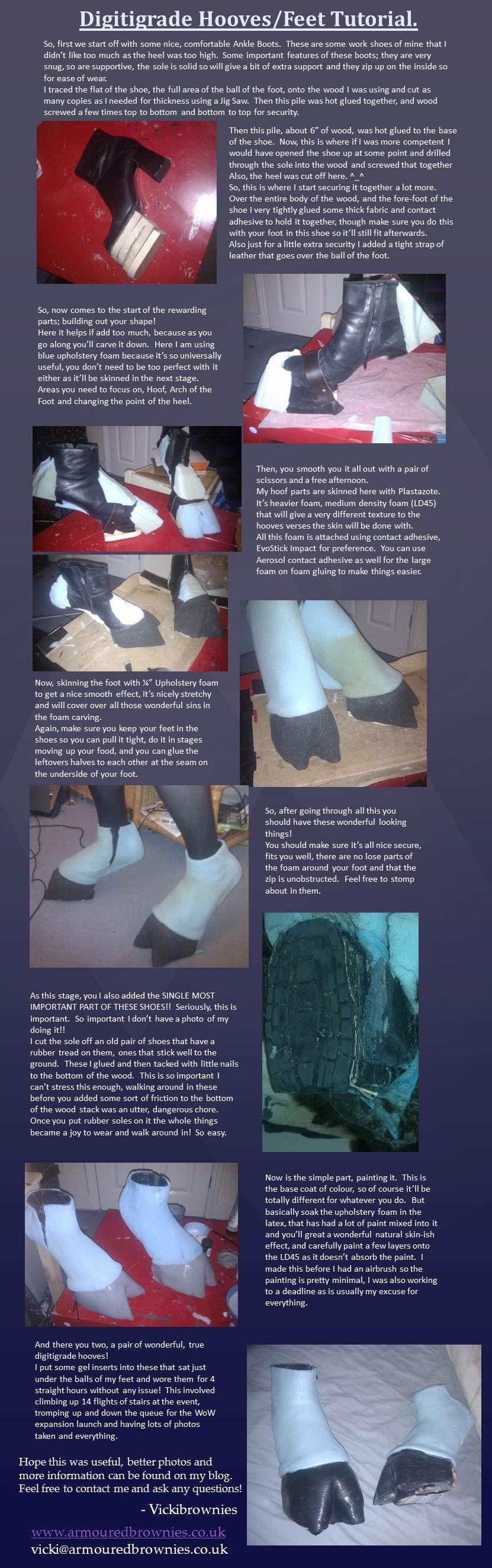 Draenei Digitigrade hooves/feet tutorial by ~VickiBrownies