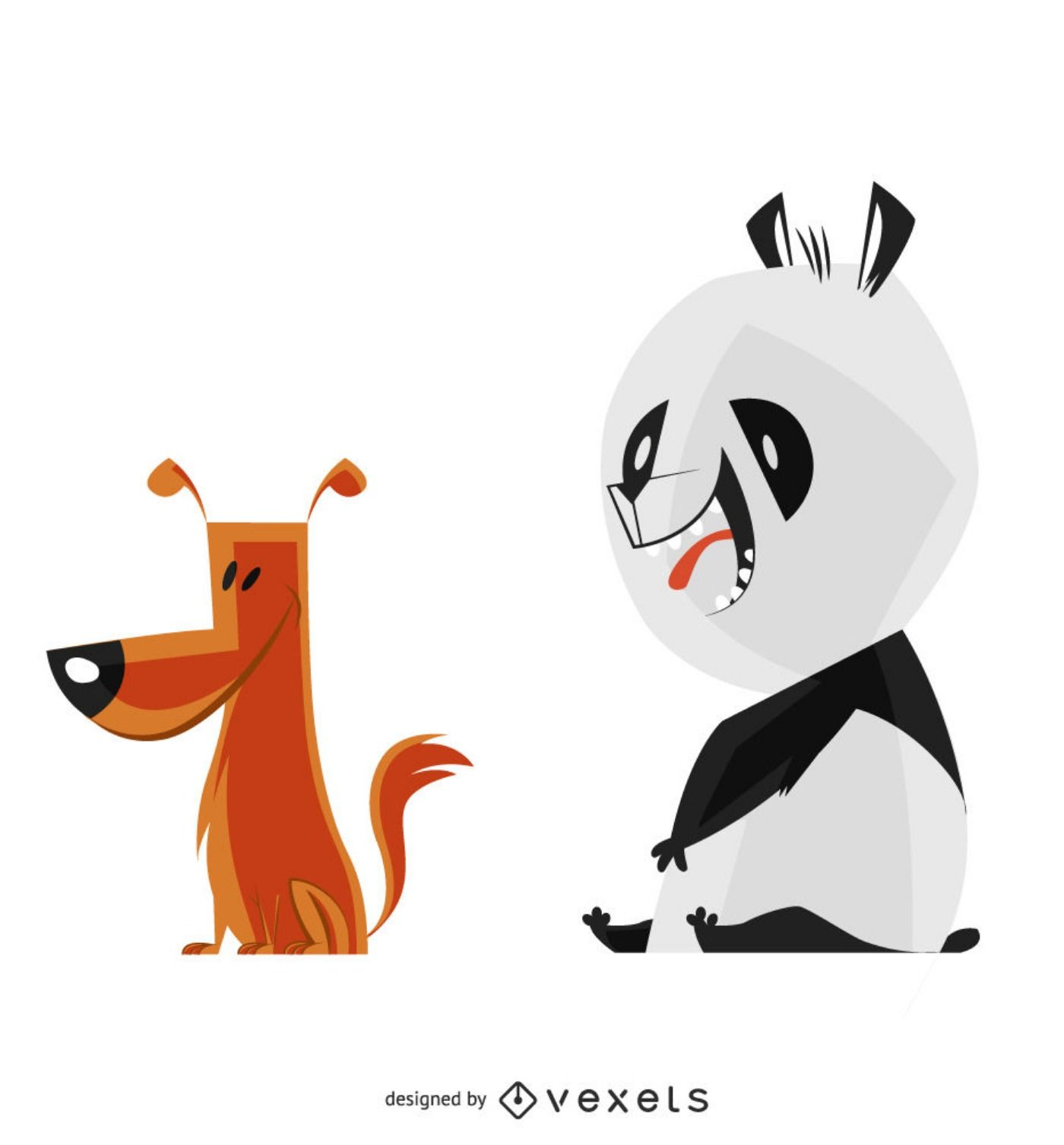 Need a cute panda or dog vector design for your project