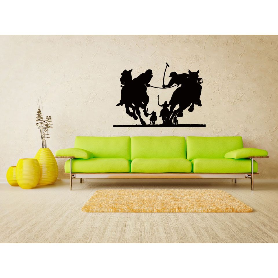 Contest Game to Ride Horses Polo Wall Art Sticker Decal | Products ...