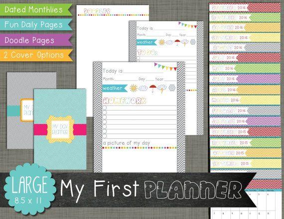 20% OFF: My First Planner Printable Set by PolkaDotPosiePrint